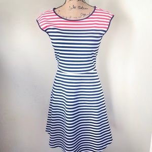 Draper James Ponte Striped Dress